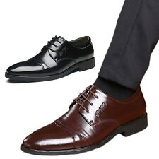 hana Wedding Pointed toe Mens Brogues Italian style Work Business Shoes Size