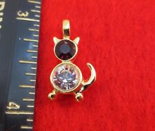 14KT GEP PET CAT BIRTHSTONE MADE WITH SWAROVSKI CRYSTAL CHARM PENDANT JAN-DEC