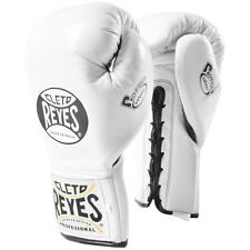 Cleto Reyes Safetec Professional Boxing Fight Gloves - White