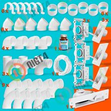 NEW!! Central Vacuum White 3-Inlet Installation Kit and White Vacpan-lightweight