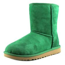 Ugg Australia Kids Classic Youth  Round Toe Suede Green Winter Boot