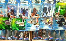 Star Wars Saga Collection AOTC Legends 30th ANH ESB ROJ TPM Blue Carded Figures