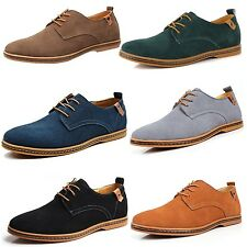 Business Mens Oxford Formal Brogues Lace up Flat Cuban heel Shoes