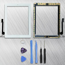 White/Black Touch Screen Digitizer W/Home Button Assembly for iPad Mini 1/2+Tool