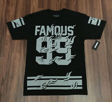 FAMOUS Stars and Straps Famous Blazin T shirt Still famous graphic men's tee New
