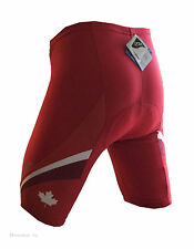 new Barbedo men's cycling shorts with padding Canada colors red road bike