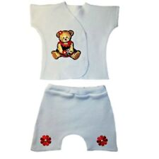 Sweet Teddy Bear Baby Girl Shorts Outfit - 4 Preemie and Newborn Infant Sizes
