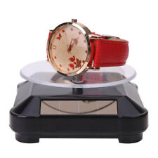 Rotating Solar Power Jewelry Phone Watch Display Stand Holder Turn Table Little