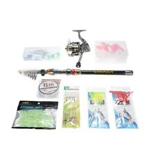Portable Fishing Rod Reel Set Telescopic Combo Reel Pole Saltwater Spinning H0Y9