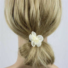 10Pcs Feather Bowknot Flower Brooch Pin Bridal Party Hair Holder Headdress Bead