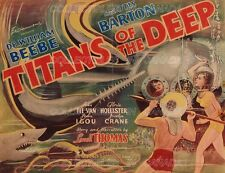 "TITANS OF THE DEEP 1938 = Scuba Diving DEEP SEA DIVER = POSTER 7 SIZES 19"" - 36"""