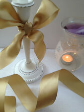 SMOOOOTH GOLD Classy Satin Wedding / Anniversary 38mm - Luxury Wire Edged Ribbon