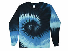 Blue Ocean Tie Dye T-Shirts Youth XS - Youth L Long Sleeve 100% Cotton Colortone