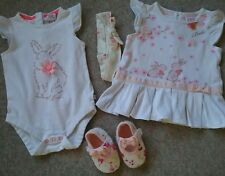 TED BAKER BABY GIRL BUNDLE Age 3-9 months.2 x TOPS HAIR BAND & SHOES Great condn