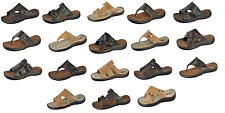 Men Sandals Sizes 8 9 10 11 12 13 Black Beige Brown Bond Leatherette 6 Styles