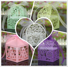 Wholesale 20Pcs Candy Chocolate Box Wedding Party Gift Wrapping Bag With Ribbon