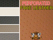 """Vinyl Upholstery Embossed PERFORATED LOOK Fabric """"NO HOLES!"""" Fake Leather 54"""" W"""