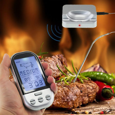 Wireless LCD Remote Thermometer BBQ Grill Meat Kitchen Oven Food Cooking 5 level