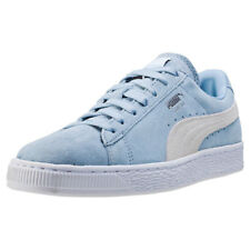 Puma Suede Classic + Womens Trainers Blue White New Shoes