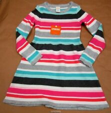 Gymboree Enchanted Winter Striped Sweater Dress 4 NWT