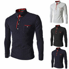 Mens Fashion Luxury Long Sleeve Shirt Casual Slim Fit Stylish Dress Shirts Tops-