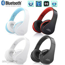Wireless Bluetooth Stereo Headset Foldable Headphones Mic for iPhone Samsung HTC
