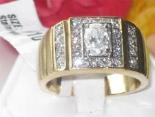 TK755pb OVAL PAVE 18KT SIGNET PINKY SIMULATED DIAMOND   MENS RING MANS GOLD