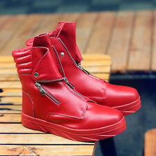 Men's High Top sneaker Lace Up Shoes Dance Rivet Combat Outdoor Ankle Boots Size