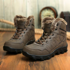 Hot Men's Leather Lace Up Sneakers Winter Warm Ankle Boots Hiking Snow Shoes