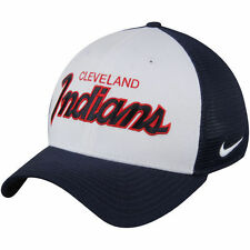 Cleveland Indians Nike White/Navy Local Swoosh Flex Hat Cap