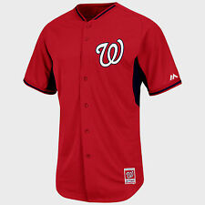 WASHINGTON NATIONALS MLB MAJESTIC PLAYERS AUTHENTIC COOL BASE BP JERSEY NWT