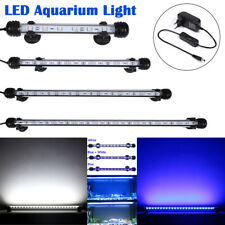 EU Plug Aquarium Fish LED Light Bar Light Submersible Clip Lamp Decor 3 Colors