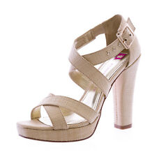 ELAINE TURNER Sophia-SP12 Raffia Strappy Heeled Sandals $275 NEW