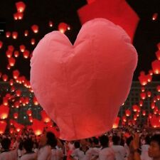 Heart Shape Chinese Lanterns Paper Sky Fire Lamp For Wish Wedding/ MX Party