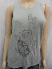 W. LUCKY BRAND GREY COMBO PRINT BACK KEYHOLE TANK TOP SZ-XS, S, M, L (NWT)