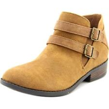 Madden Girl Kest Youth  Round Toe Canvas Brown Ankle Boot NWOB