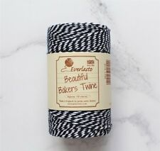 Navy Blue and White Baker's Twine, Package Twine, 10 ply Cotton Twine, Nautical