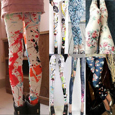 Women's Sexy Skinny Colorful Punk Funky Leggings Stretchy Pencil Tight Pants