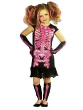 Totally Ghoul Girls Pink Shocking Xray Halloween Costume Dress Up Outfit