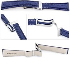 Echt Haifisch Watch band compatible Breitling Folding clasp blue 0 7/8in