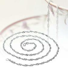 Fashion Pure Solid 925 Sterling Silver Rope Chain Necklace with Lobster Clasp S+