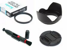 NY11 72mm Lens Hood Cap Cleaning Pen UV Filter For DSLR Digital Camera Camcorder