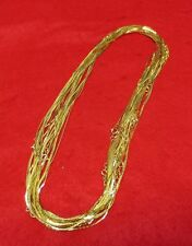 WHOLESALE LOTS OF 5-144 PCS OF 14KT GOLD EP 24 INCH 1MM COBRA NECKLACES