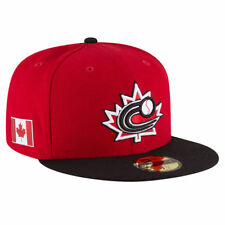 WORLD BASEBALL CLASSIC TEAM CANADA NEW ERA 59FIFTY FITTED RED/BLACK HAT/CAP NWT