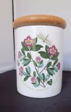 Portmeirion Botanic Garden Small Storage Jar/Canister w/Wood Lid Rhododendron