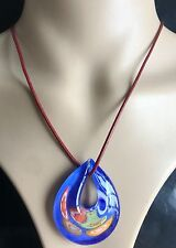 occidental new style  Drop Lampwork Glass Murano Pendant Necklace