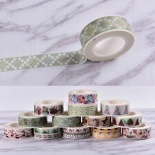Christmas Washi Tape Paper Masking Sticky Adhesive Roll Craft Decorative New ^*