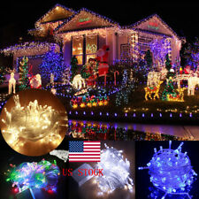 US LED String Lights Waterproof 10M Waterproof 110V 100 LED Connectable Xmas
