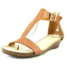 Kenneth Cole Reaction Great Step Women  Open Toe Leather  Wedge Sandal NWOB