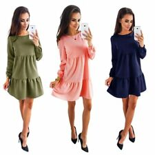 New Women's Autumn Summer Long Sleeve Party Evening Cocktail Short Mini Dress